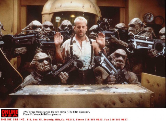 1997 Bruce Willis stars in the new movie 'The Fifth Element'