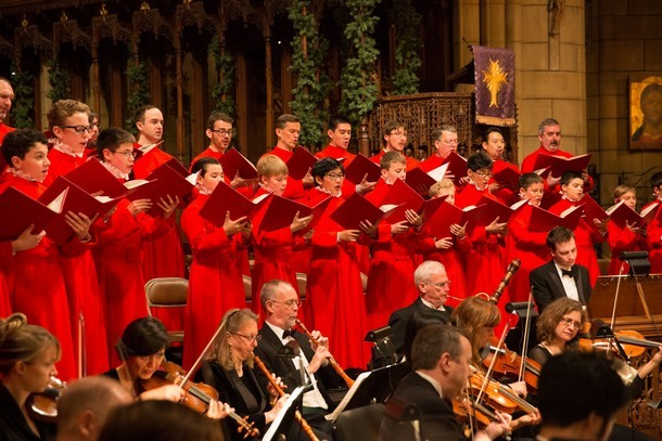 St. Thomas Choir of Men & Boys w/ Concert Royal (Photo by Ira Lippke, courtesy of Dan Dutcher Public Relations)