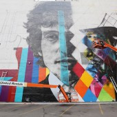 Bob Dylan Mural Painted In Minneapolis