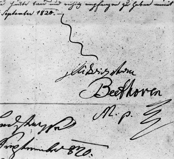Beethoven's Signature