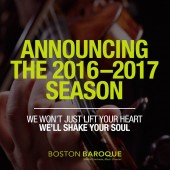Boston Baroque 2016-2017 Season Announcement