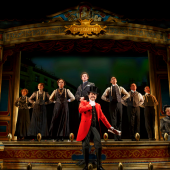 Jefferson Mays and the cast of A Gentleman's Guide to Love & Murder