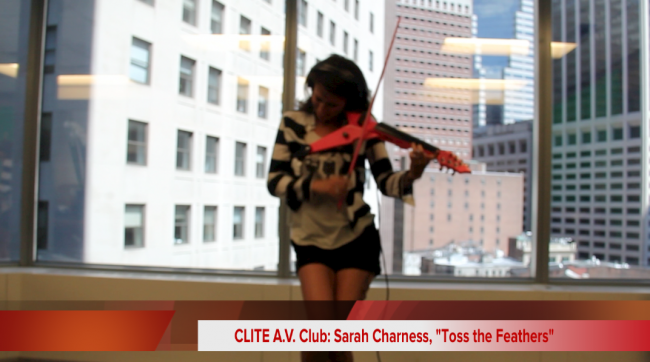"Clite A.V. Club: Sarah Charness, ""Toss the Feathers"""